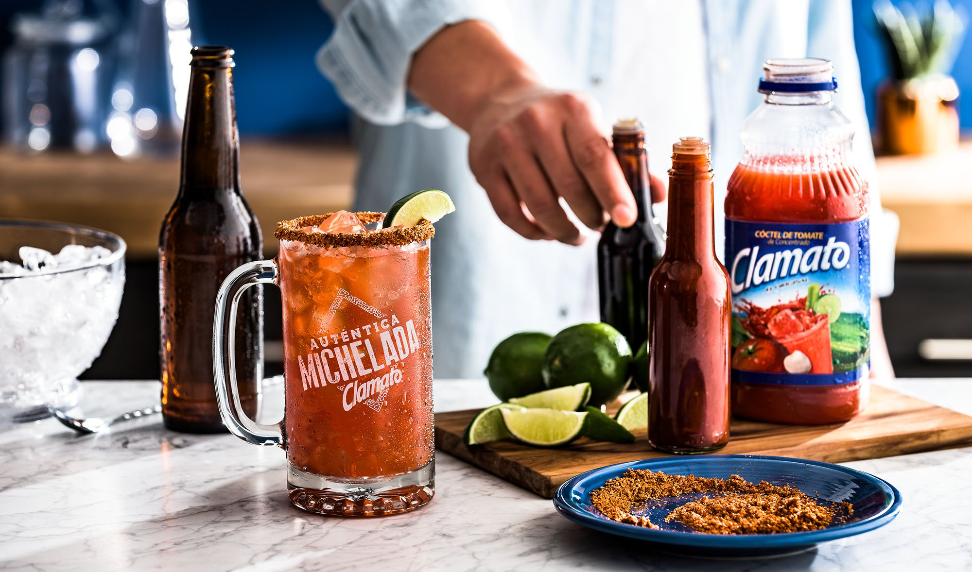 Authentic Clamato Michelada Original Drink Recipe