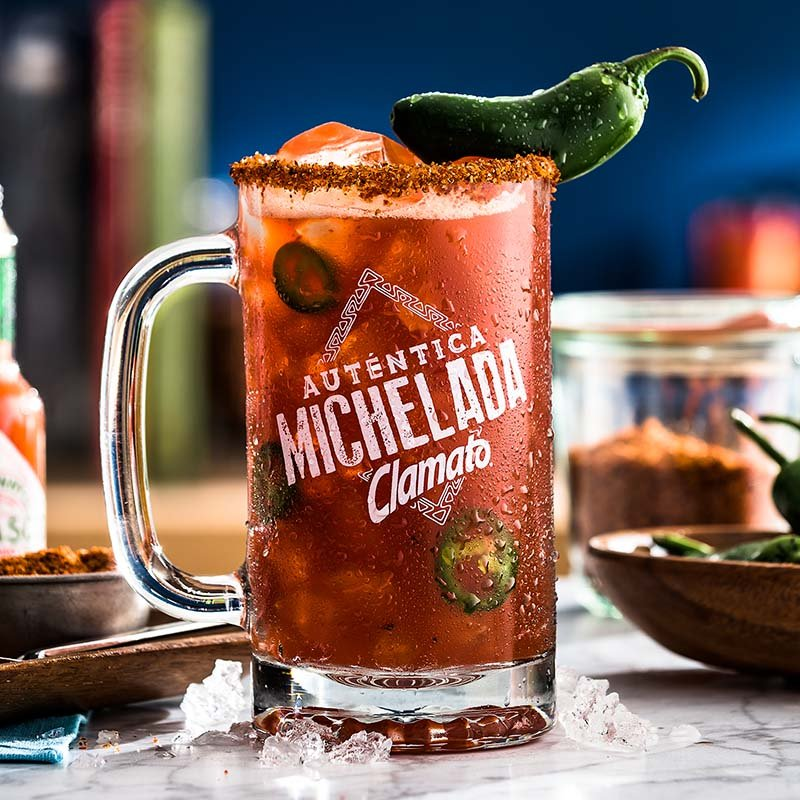 Spicy Clamato Michelada Drink Recipe