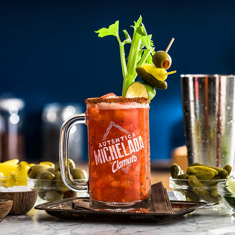 Bloody María Clamato Michelada Drink Recipe