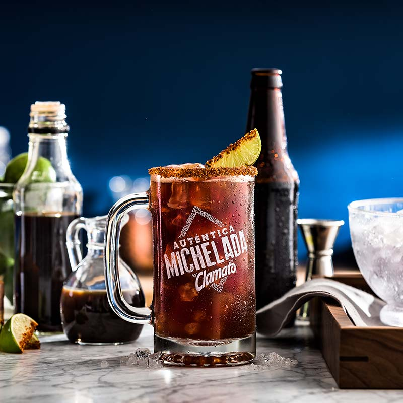 Dark Clamato Michelada Drink Recipe