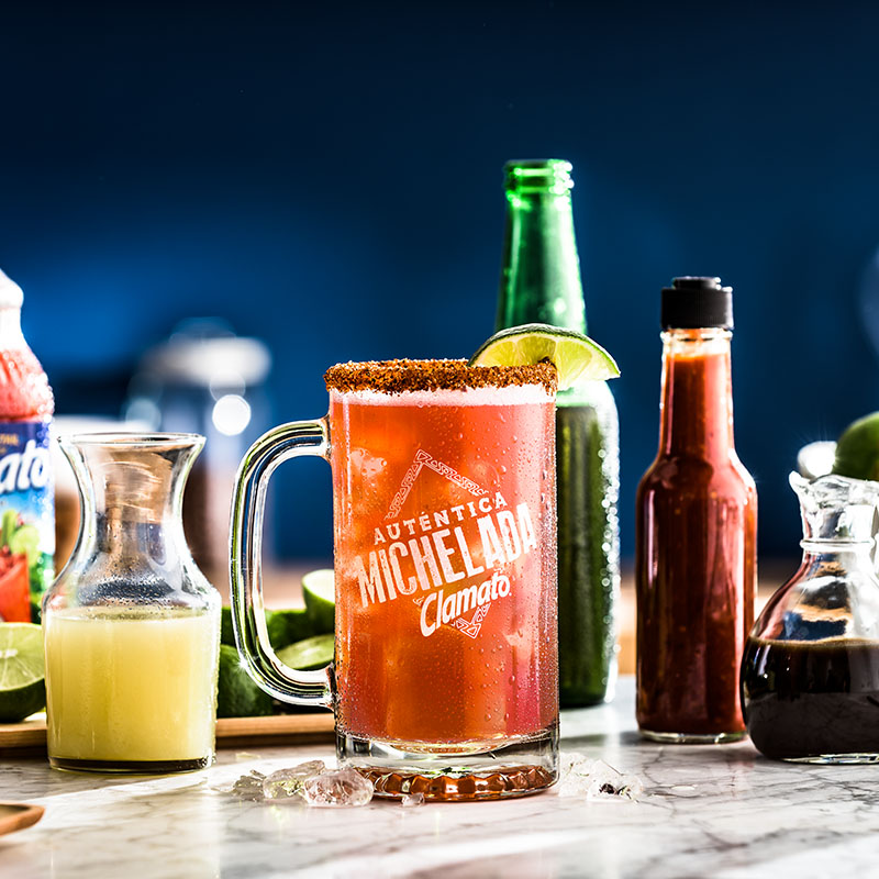 Nonalcoholic Clamato Michelada Drink Recipe