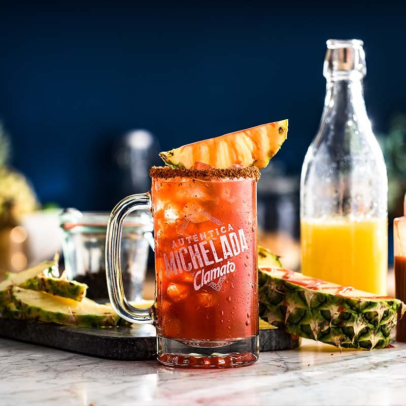 Pineapple Clamato Michelada Drink Recipe