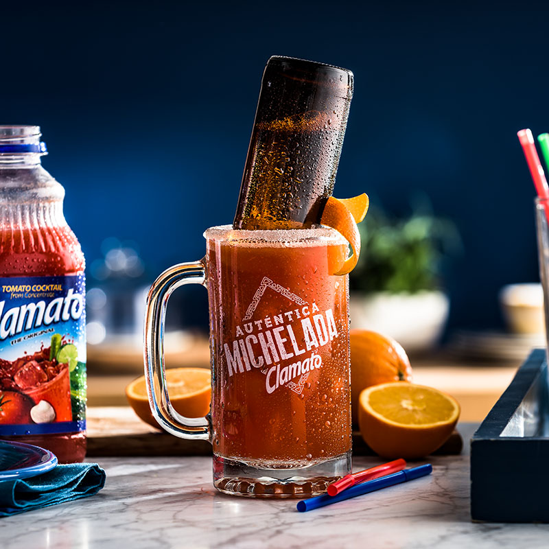 Receta Michelada Tropical Clamato Bebida